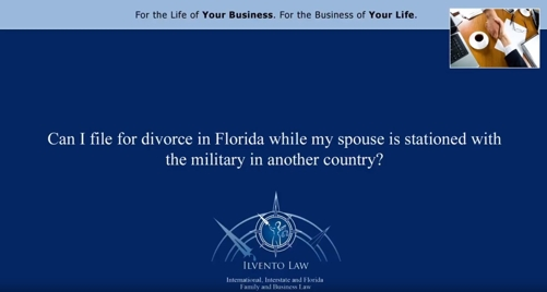 Can I File for Divorce While My Spouse Is Stationed with the Military in Another Country?